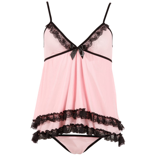Babydoll-Set in Pink(Small)